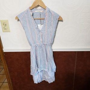 NWT Ellison Women's Striped Sleeveless Blouse Sz S